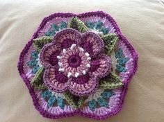 Ravelry: Project Gallery for Frida's Flowers Blanket pattern by Jane Crowfoot Crochet Squares Afghan, Granny Square Crochet Pattern, Crochet Flower Patterns, Crochet Motif, Crochet Designs, Crochet Flowers, Knitting Patterns, Knit Crochet, Granny Squares