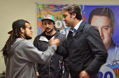 Marcos Cão e Alan Stresser, skatistas, estão com Ratinho Junior. #equipenovasideias