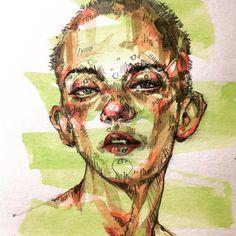 음악은 Charli XCX - Boys. #instagood #instadaily #dailyart #artist #illustration #sketch #drawing #doodle #instaart #art #artstagram #드로잉 #스케치 #취미 #낙서 #illust #일러스트 #그림 #potrait #doodling #doodle #watercolor #art_seeking