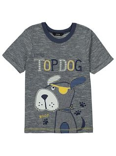 Top Dog T-shirt, read reviews and buy online at George at ASDA. Shop from our latest range in Kids. Make sure your little one is top dog in the style stakes.... Baby Boy Outfits, Kids Outfits, Kids Inspire, Puppy Clothes, Boys Suits, Kids Fashion Boy, Summer Boy, Dog Sweaters, Boys T Shirts