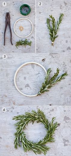 DIY Rosemary Wreath More