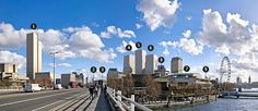 The View South from Waterloo Bridge (interactive image) The Guardian has put together a cleverly interactive projection of the ever-changing London skyline and how new construction of larger and ta...