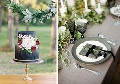 Green + Gray wedding I Coastal Bride