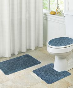 Layla 3 Piece Shaggy Bathroom Rug Set Bath Mat Contour Rug Lid Interesting 3 Piece Bathroom Rug Sets Inspiration