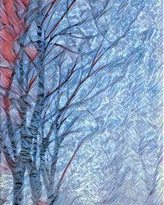 Un sottile strato di ghiaccio sul parabrezza crea spesso texture particolari. Con #prisma l'arte non ha limiti.