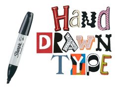 A collection of hand drawn fonts to view as examples and inspiration in graphics, journaling and other various art projects. Hand Drawn Fonts, Hand Drawn Type, Hand Lettering, Creative Lettering, Lettering Styles, Lettering Ideas, Teaching Art, Teaching Drawing, Middle School Art