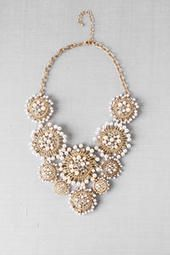Madison Avenue Pearl Bib Necklace