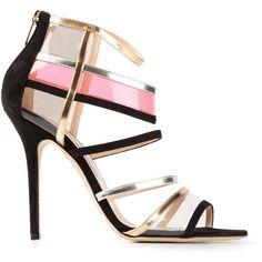 JIMMY CHOO 'Maitai' sandals ($705) ❤ liked on Polyvore