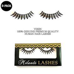 $22 Milanté BEAUTY 3 PACK VIXEN False Lashes Black Natural Thick Long Full Reusable Fake Eyelashes #milantebeauty
