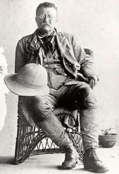 Theodore Roosevelt, during the African Safari & Scientific Expedition - April 21, 1909 to March 14, 1910