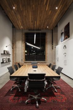 VICE Office – Toronto  | conference room | | meeting room | #meetingspace #design  http://www.ironageoffice.com/