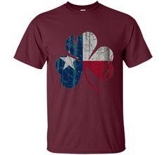 Irish Flag of Texas Shamrock Shirt