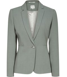 Womens Fern Textured Blazer - Reiss Camila Jacket