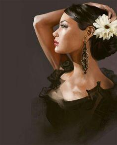 artists gallery  beautiful women paintings rob hefferan | via hiroaoi
