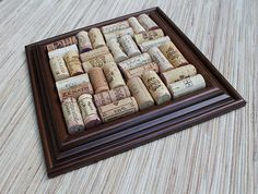 Cork Trivet Craft  DIY wine cork trivet reclaimed wood