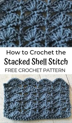 How to Crochet the Stacked Shell Stitch I am excited to share a new crochet stitch pattern with you. Today we are going to learn how to crochet the Stacked Shell Stitch! Crochet Shell Scarf, Crochet Shell Pattern, Crochet Shell Stitch, Free Crochet, Crochet Hooks, Free Pattern, Tunisian Crochet, Crochet Granny, Crochet Stitches For Beginners