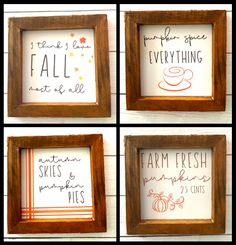 Tier Tray, Free Art Prints, Fall Decorations, Free Printables, Easy Diy, Signs, Frame, Picture Frame, Autumn Decorations
