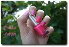 pink to purple avec L'Onglerie