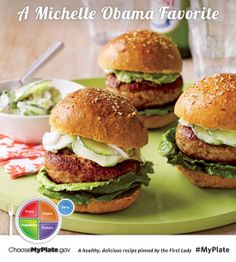 Spicy Chicken Burgers #myplate #letsmove #protein