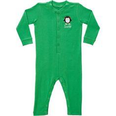 Personalized Premium Skating Penguin Ruffle Toddler Long John, Green, Toddler Girl's, Size: 24 Months
