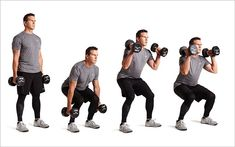Back To Back Dumbbell Exercises To Build Full Body Strength And Burn Fat Back To Back Dumbbell Exercises To Build Full Body Strength And Burn FatComplexes are an effective way to train, since they boast all the be Full Body Dumbbell Workout, Dumbbell Exercises, Tummy Workout, Biceps Workout, Hip Workout, Mini Workouts, Gym Workouts, Morning Workouts, Workout Songs