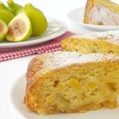 A rustic cake with figs and polenta. Recipe with step by step pictures.