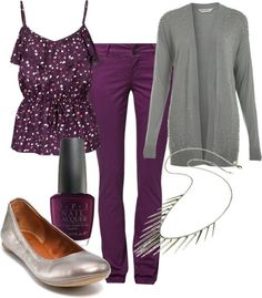 dress your truth type 2 hair | Dressing Your Truth: Type 2 / Purple #2 by laurynmarton on Polyvore