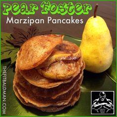Pear Foster Marzipan Pancakes
