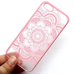 iPhone 5 Case, LUOLNH pink Henna Full Mandala Floral Dream Catcher Matte Hard Clear Case Cover for Apple iPhone 5/5S LUOLNH http://www.amazon.com/dp/B00X8BSXUW/ref=cm_sw_r_pi_dp_vVluwb0V6SE42