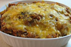 Low Carb Beef And Cheesy Spaghetti Squash Bake! Recipe - Food.com: Food.com