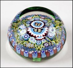 A Perthshire Faceted Glass Paperweight : Lot 132-2031 #perthshire #paperweight #fineglass
