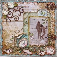 Scrapbook page by Gabrielle Pollacco using Bo Bunny papers and Dusty Attic Chipboard