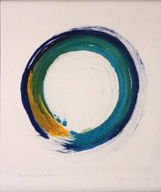 Zen Circles by Kaz Tanahashi Pintura Zen, Tantra Art, Zen Painting, Circle Tattoos, Japanese Aesthetic, Art For Art Sake, Meditation, Skin Art, Japanese Art