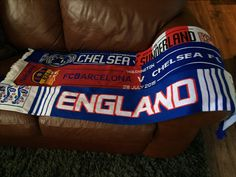 Match day scarfs sewn into a blanket.  #soccer  #football Dun4Me is the marketplace for custom made items built to your exact specifications by talented makers. Get bids for free, no obligation!