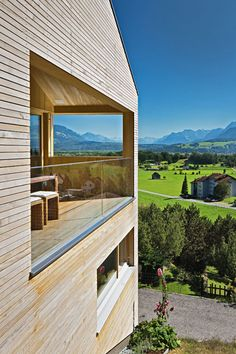 This is how we do it in Vorarlberg - Light Wood and the perfect view.