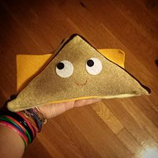 Grilled cheese plush by Heidi Kenney
