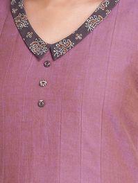Pink Side Button Detail Pleated Mangalgiri Dress by Samprada Chudidhar Neck Designs, Salwar Neck Designs, Kurta Neck Design, Neck Designs For Suits, Sleeves Designs For Dresses, Neckline Designs, Fancy Blouse Designs, Kurta Designs Women, Blouse Neck Designs