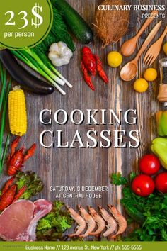 Free Customizable Cooking Classes School Poster Template   PosterMyWall
