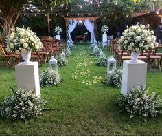 Corredor da noiva Caramachao  Casamebto rustico Linda decoraçao