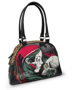 Liquor Brand Damen DIAMOND GYPSY Handtasche.Oldschool,Tattoo,Biker,Pin up Style