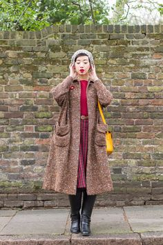 NoraFinds | Tweed and Red for Winter