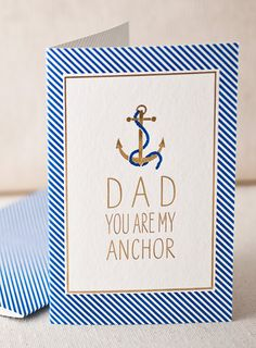 dad anchor letterpress and foil card by smock