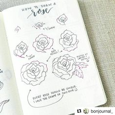 "712 Likes, 3 Comments - The Pen & Paper Club (@thepenandpaperclub) on Instagram: ""@bonjournal_ makes beautiful flowers tutorial and I have tried to reproduce these beautiful flowers…"""