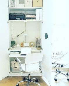 *Small Space Solution* // Ikea Pax Wardrobe Outfitted as Desk @ Sheworks Collective in NYC