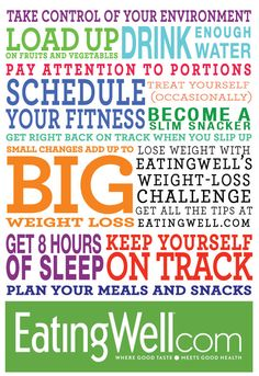 Slim down with EatingWell's weight-loss challenge. Join us on Facebook, via newsletter or on eatingwell.com