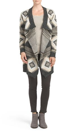 c4124969307 Juniors Aztec Shawl Sweater Cardigan Teen Girl Outfits