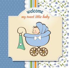 vector   bebé de dibujos animados tarjeta de vectores   Descargar Vectores ...