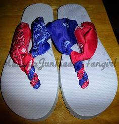 Makeup Junkie and Fangirl: 4th of July Bandana Flip Flops