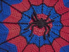Spider-Man inspired ripple blanket by alottastitches