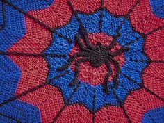 Spider-Man inspired ripple blanket by alottastitches